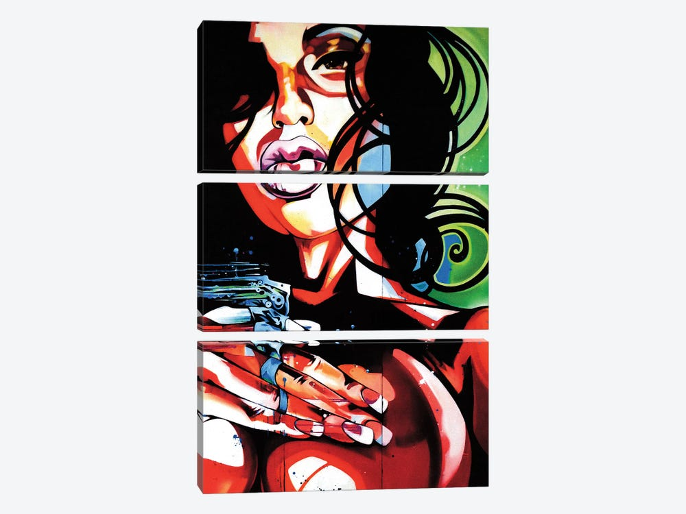 Diptic Love by Fernan Mora 3-piece Canvas Print