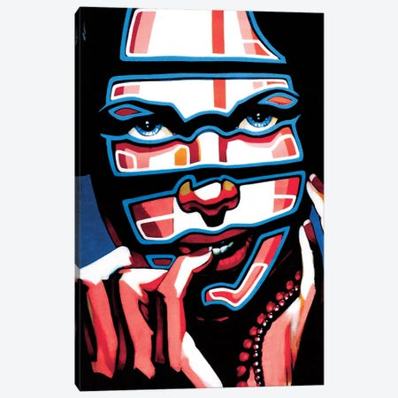 Electric Masacarade Canvas Print #FMO63} by Fernan Mora Canvas Art Print