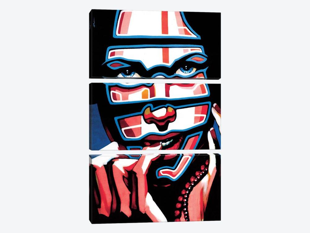 Electric Masacarade by Fernan Mora 3-piece Canvas Artwork