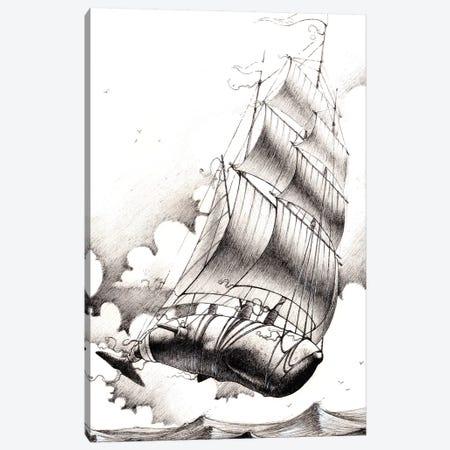 Flight Of Fancy 3-Piece Canvas #FMO92} by Fernan Mora Canvas Art
