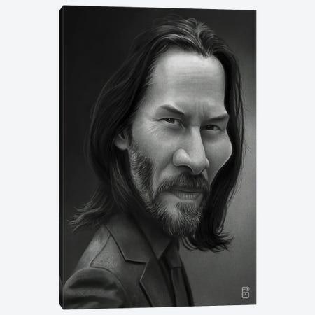 Keanu Reeves Canvas Print #FMZ10} by Fernando Méndez Canvas Art Print