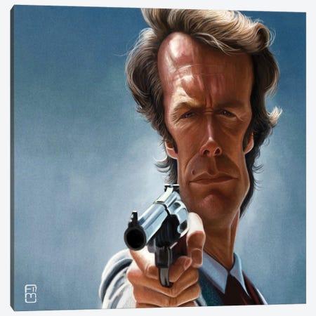 Clint Eastwood Canvas Print #FMZ13} by Fernando Méndez Art Print