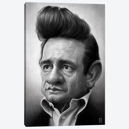 Johnny Cash Canvas Print #FMZ16} by Fernando Méndez Canvas Artwork