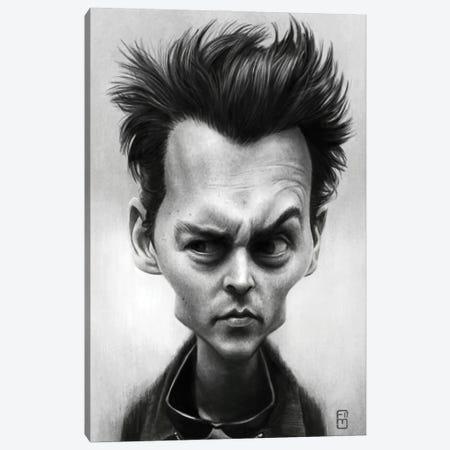 Johnny Depp Canvas Print #FMZ17} by Fernando Méndez Canvas Art