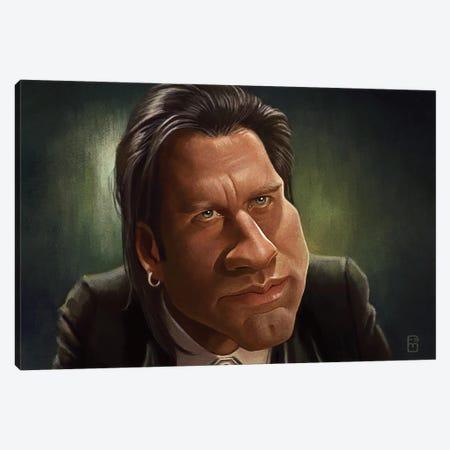 John Travolta Canvas Print #FMZ23} by Fernando Méndez Canvas Wall Art