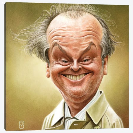 Jack Nicholson Canvas Print #FMZ2} by Fernando Méndez Canvas Art Print