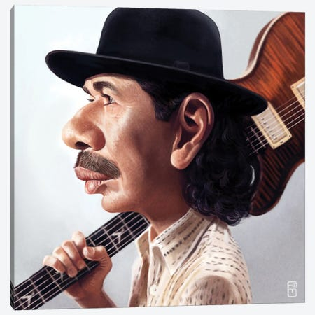 Carlos Santana Canvas Print #FMZ35} by Fernando Méndez Canvas Artwork