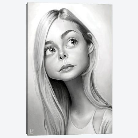 Elle Fanning Canvas Print #FMZ37} by Fernando Méndez Canvas Wall Art
