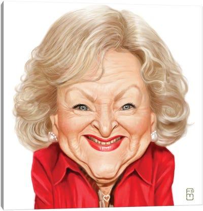 Betty White Canvas Art Print