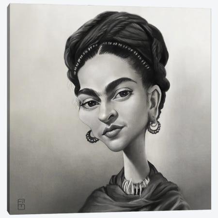 Frida Canvas Print #FMZ41} by Fernando Méndez Canvas Wall Art