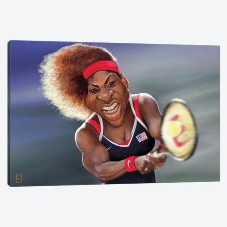 Serena Williams Canvas Print #FMZ42} by Fernando Méndez Canvas Artwork