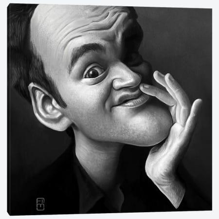Quentin Tarantino. Canvas Print #FMZ45} by Fernando Méndez Canvas Print