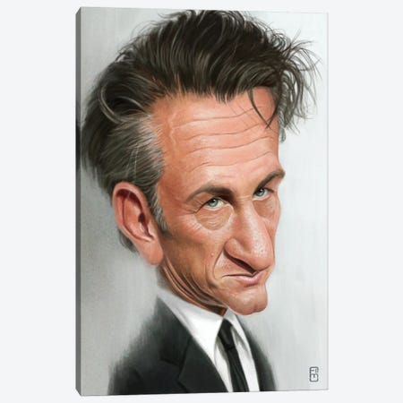 Sean Penn Canvas Print #FMZ48} by Fernando Méndez Canvas Wall Art