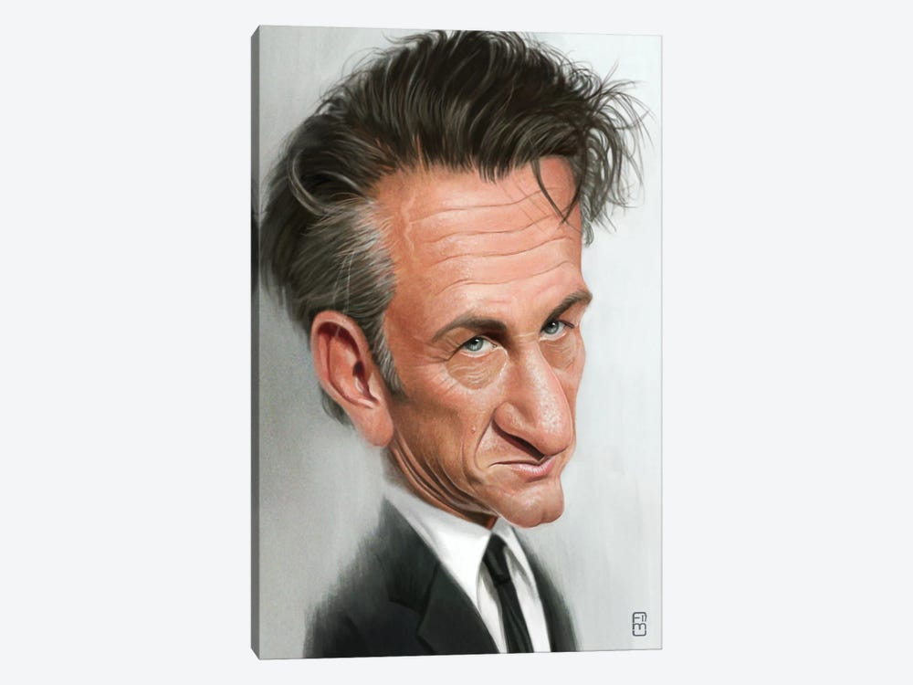 Sean Penn by Fernando Méndez 1-piece Canvas Art