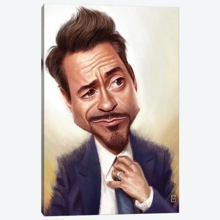 Robert Downey Jr. Canvas Print #FMZ49} by Fernando Méndez Canvas Wall Art
