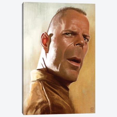 Bruce Willis Canvas Print #FMZ4} by Fernando Méndez Canvas Artwork