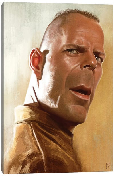 Bruce Willis Canvas Art Print