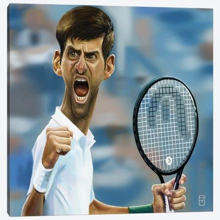 Novak Djokovic Canvas Print #FMZ51} by Fernando Méndez Canvas Art Print