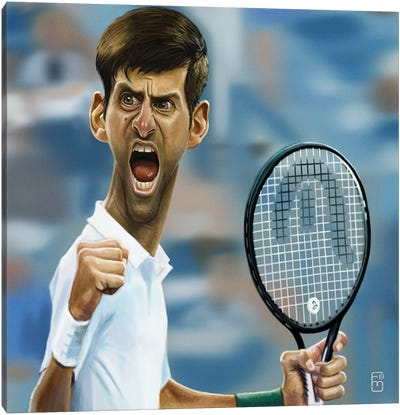 Novak Djokovic Canvas Art Print