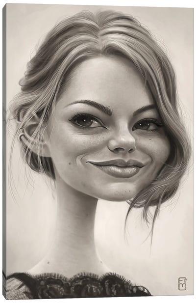 Emma Stone Canvas Art Print