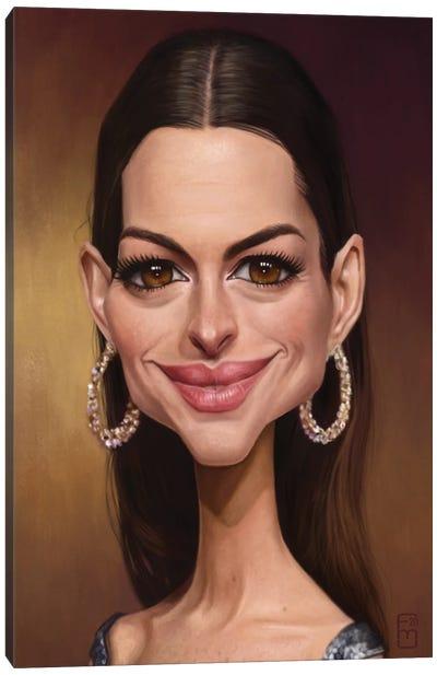 Anne Hathaway Canvas Art Print