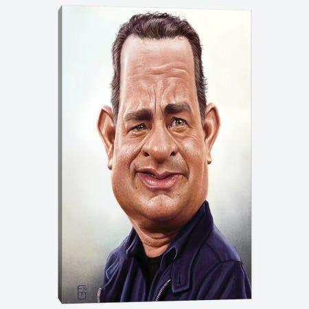 Tom Hanks Canvas Print #FMZ6} by Fernando Méndez Canvas Artwork