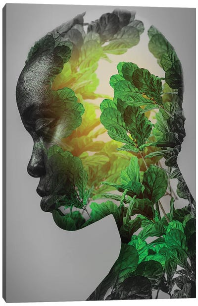 Green Woman Canvas Art Print
