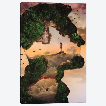 Man I Canvas Print #FNA14} by fndesignart Canvas Print