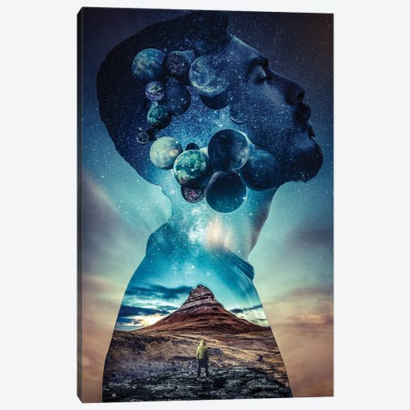 Space II 3-Piece Canvas #FNA36} by fndesignart Art Print