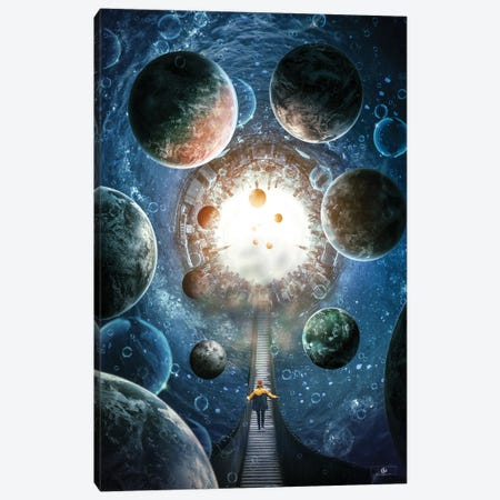Walk In Space Canvas Print #FNA47} by fndesignart Canvas Art