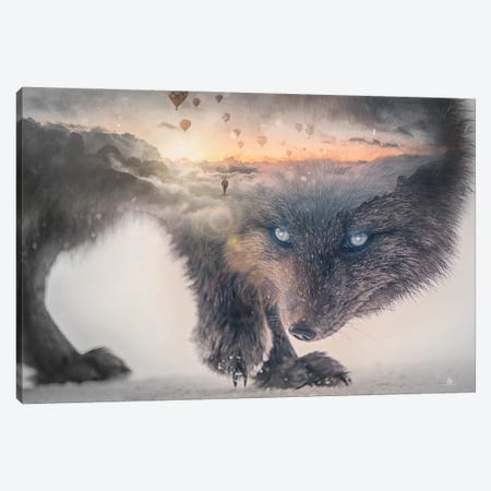 Wolf Canvas Print #FNA50} by fndesignart Canvas Art