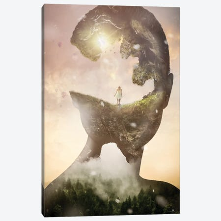 Woman Surreal Canvas Print #FNA57} by fndesignart Art Print