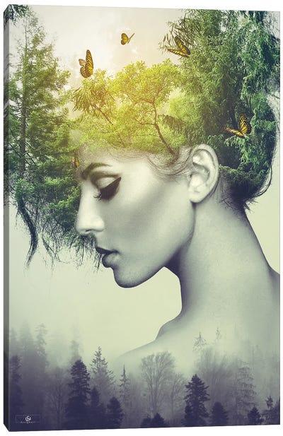 Woman Trees Canvas Art Print
