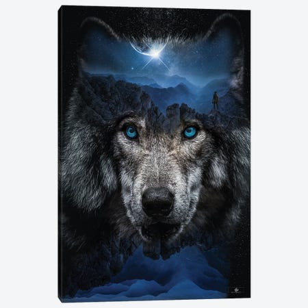 Wolf Canvas Print #FNA69} by fndesignart Canvas Print
