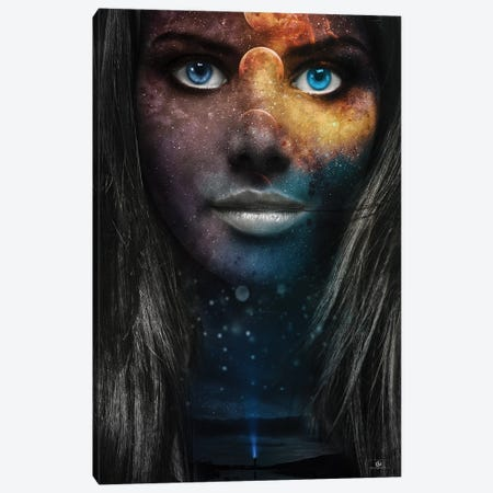 Space Woman Canvas Print #FNA80} by fndesignart Canvas Art Print