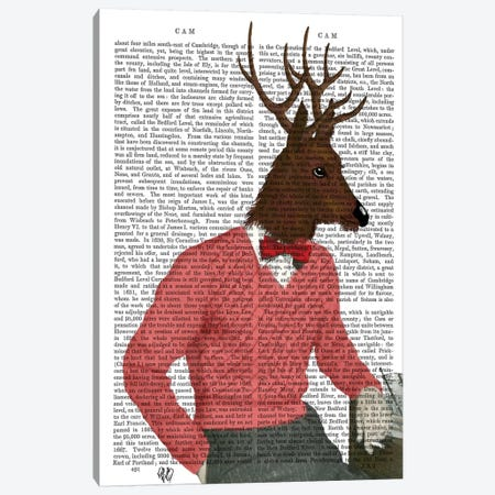 Deer At The Bar Canvas Print #FNK1002} by Fab Funky Canvas Print