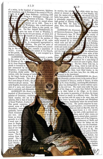 Deer In Chair Canvas Art Print