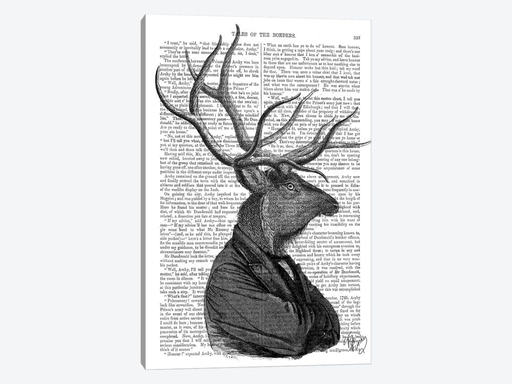Deer Portrait I by Fab Funky 1-piece Canvas Art Print
