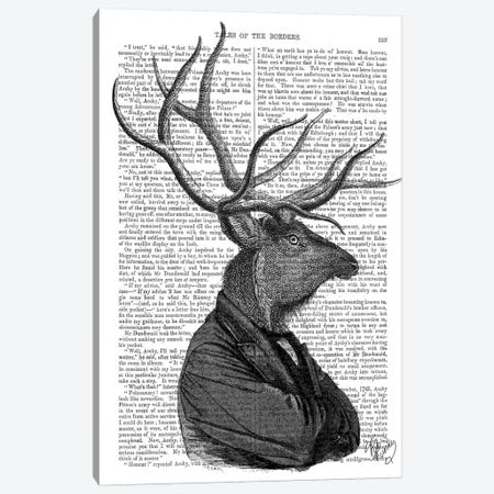 Deer Portrait I Canvas Print #FNK1008} by Fab Funky Canvas Print