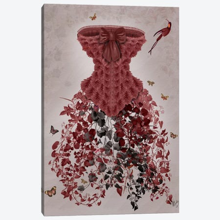 Woodland Corset Canvas Print #FNK101} by Fab Funky Art Print