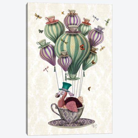 Dodo Balloon With Dragonflies Canvas Print #FNK1026} by Fab Funky Canvas Art