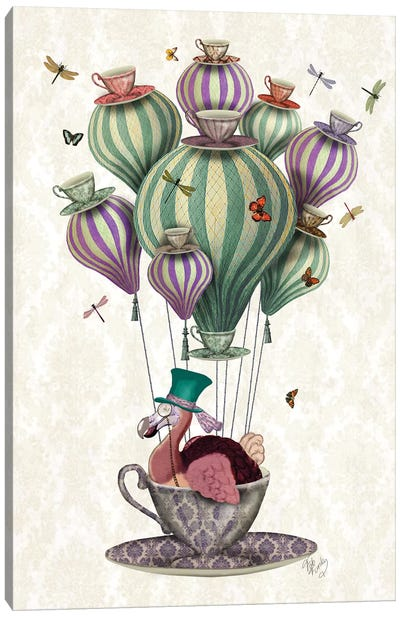 Dodo Balloon With Dragonflies Canvas Art Print