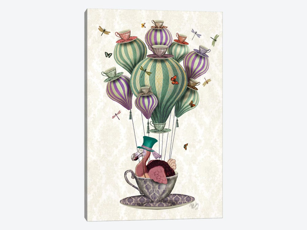 Dodo Balloon With Dragonflies by Fab Funky 1-piece Art Print
