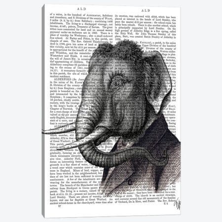 Elephant Portrait Canvas Print #FNK1035} by Fab Funky Canvas Print