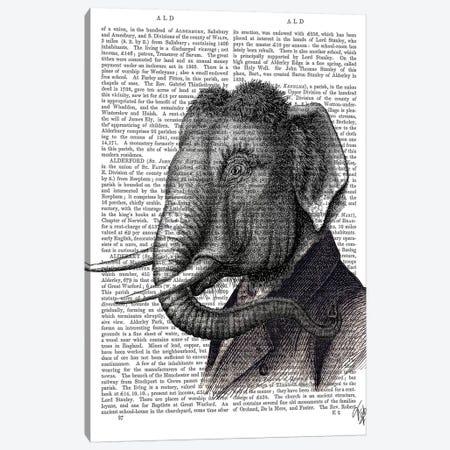 Elephant Portrait Canvas Print #FNK1035} by Fab Funky Canvas Print