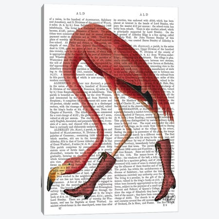 Flamingo In Pink Boots Canvas Print #FNK1045} by Fab Funky Canvas Art
