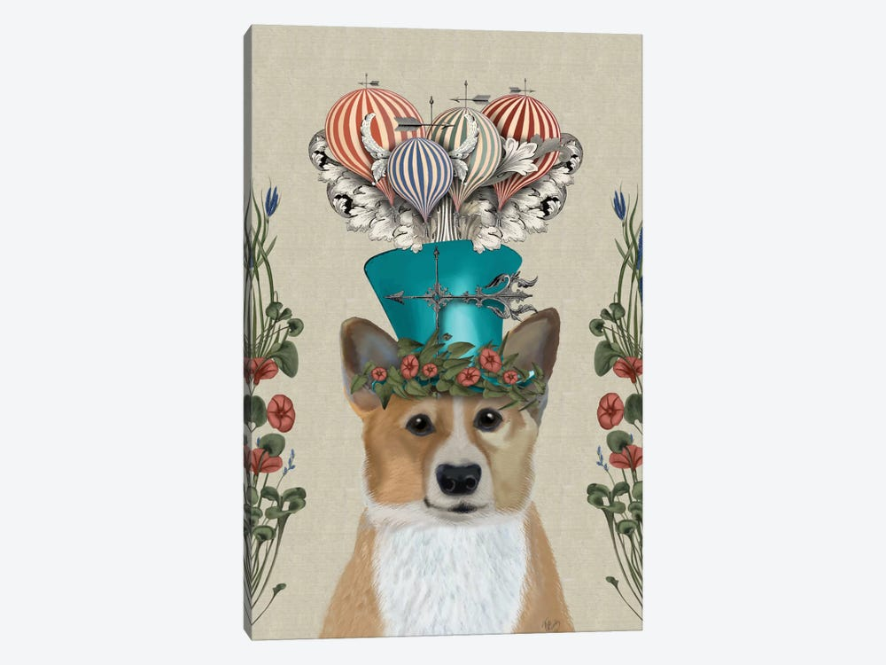 Corgi II by Fab Funky 1-piece Canvas Art Print