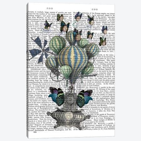 Flutter Time, Print BG Canvas Print #FNK1050} by Fab Funky Canvas Artwork