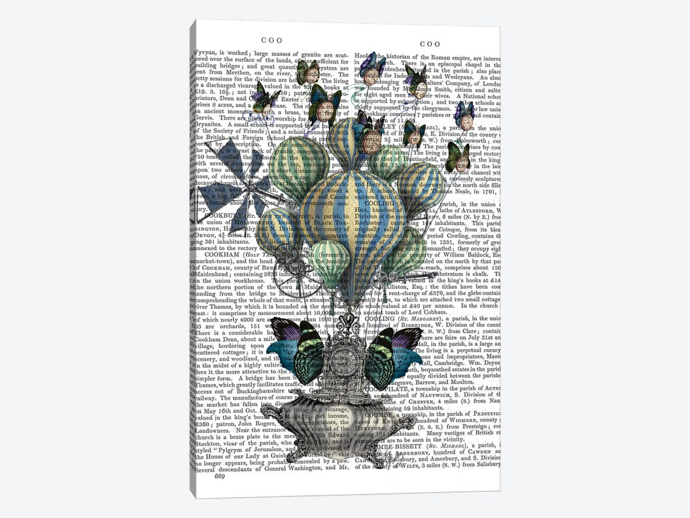 Flutter Time, Print BG Canvas Art Print by Fab Funky   iCanvas