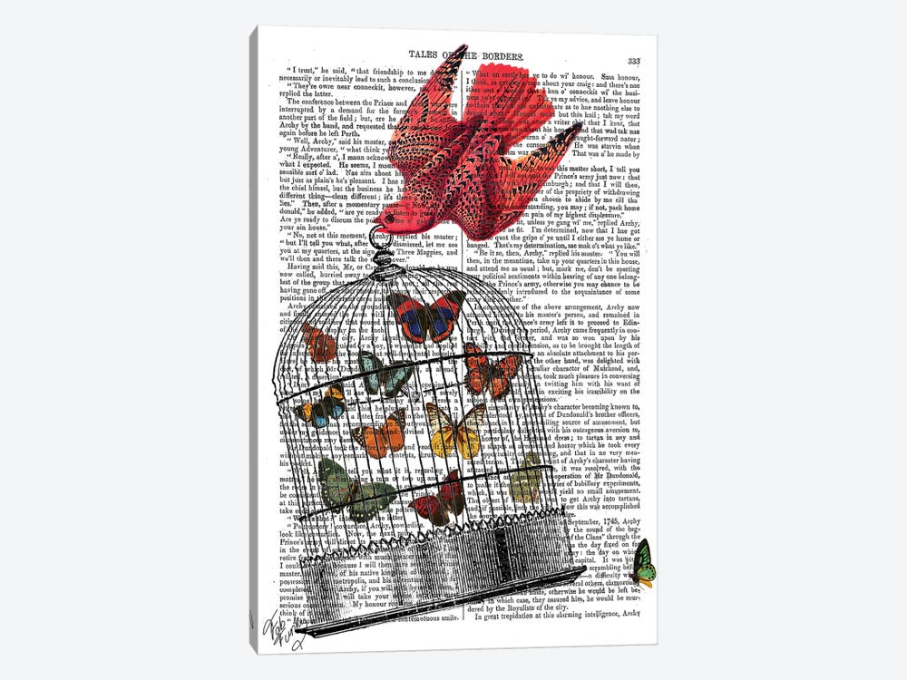 Flying Birdcage by Fab Funky 1-piece Canvas Print